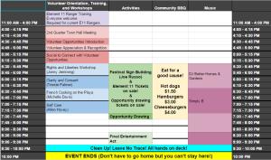 BDitP Schedule
