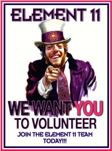 Join the Element 11 Team Today - Volunteer