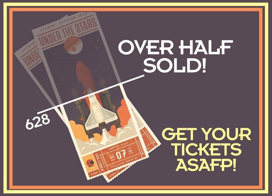 Over Half of the Tickets Have Been SOLD!